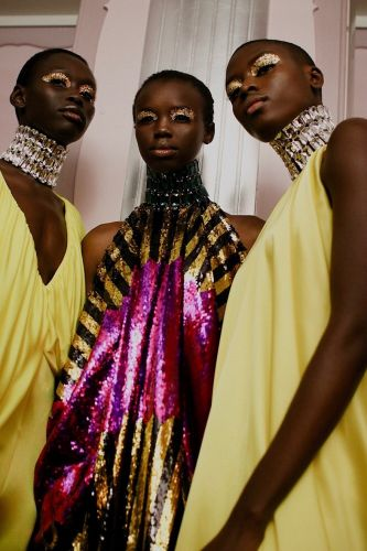 Halpern serves up a heady dose of sequinned glamour for AW19