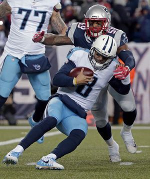 Patriots back in AFC title game, Titans trip into offseason