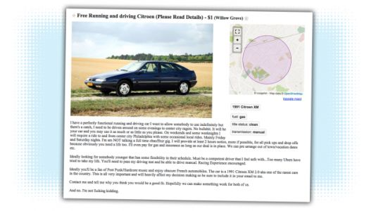 Someone on Philadelphia Craigslist Will Give You a Free Citroën if You'll Drive Them Around a Bit