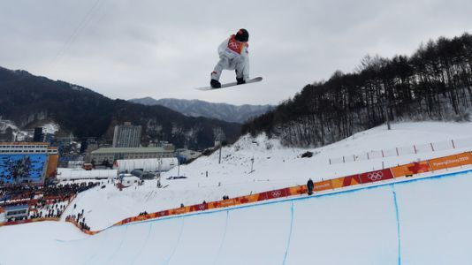 Shaun White Goes For Gold In Halfpipe At The Winter Olympics