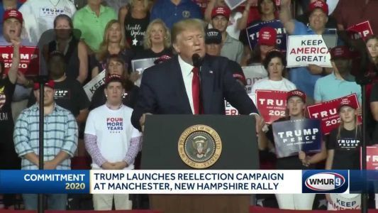 President Trump continues re-election campaign with Manchester rally