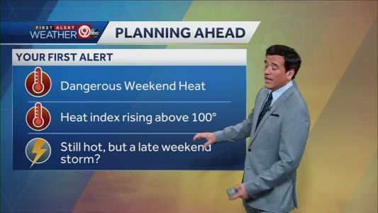 Excessive heat warning in place - heat index above 100 degrees