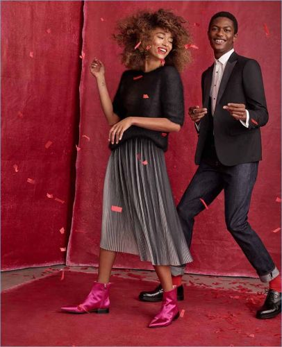 Hamid Onifade Couples Up with Anaïs Mali for Simons' Holiday Outing