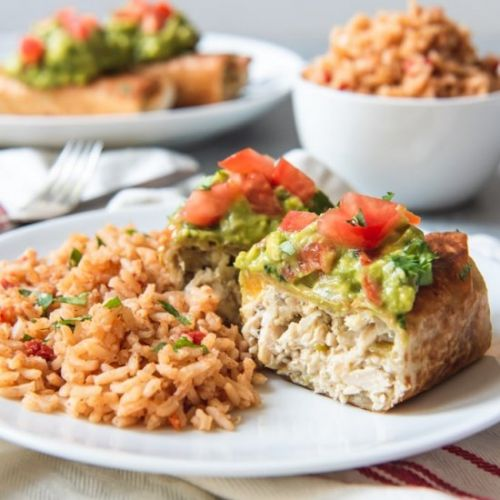 GREEN CHILI CHICKEN CHIMICHANGAS