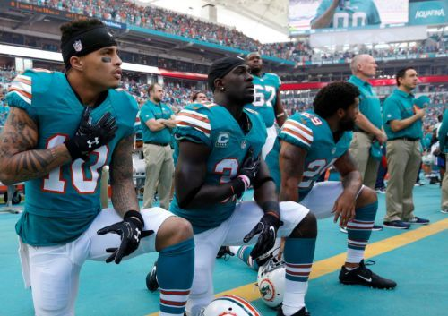 Miami Dolphins anthem punishment includes suspensions