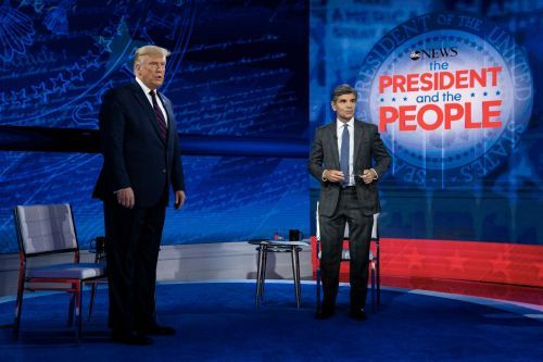 In televised town hall, President Trump denies downplaying virus