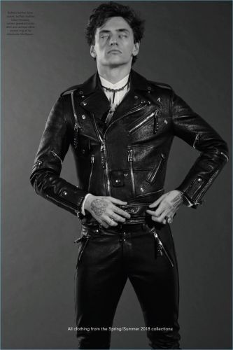 Sergei Polunin Covers Another Man, Rocks Leather Fashions