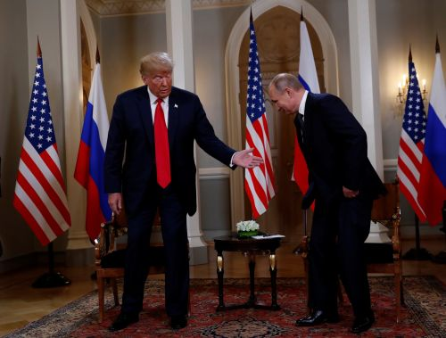 Trump and Putin sit down for Helsinki conference after Trump bashed past US Russia policy