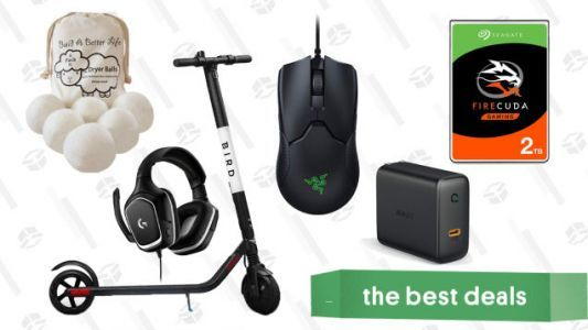 Thursday's Best Deals: Dryer Balls, Logitech Gaming Headset, Bird Electric Scooter, and More