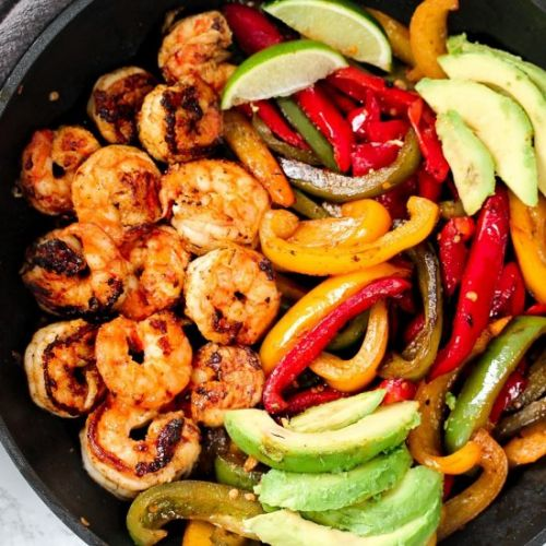 Cajun Shrimp Fajita Pan