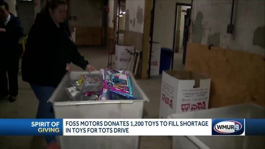 Foss Motors donates 1,200 toys to fill shortage in Toys for Tots drive