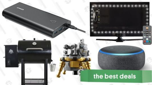 Friday's Best Deals: Anker Fast Chargers, Luminoodle Bias Lights, Wood Pellet Smoker, and More