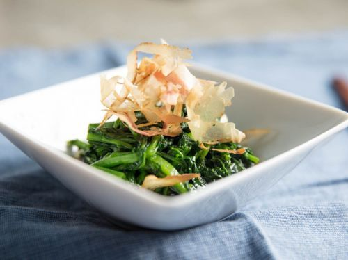 Ohitashi (Japanese Blanched Greens With Savory Broth)