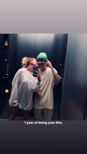 We're Swooning Over Hailey Baldwin's Romantic First Wedding Anniversary Photos With Justin Bieber
