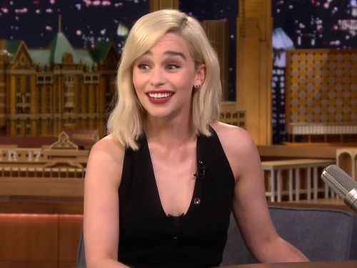 Emilia Clarke snuck off during her own 'Star Wars' movie screening to watch the royal wedding