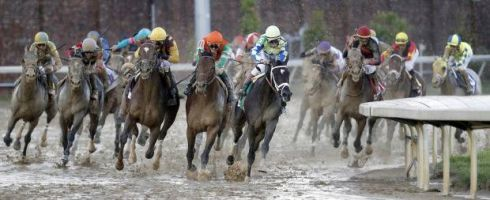 Betting favourite Always Dreaming strolls through the slop to victory at 143rd Kentucky Derby