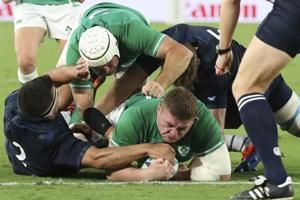 Ireland rain on Scotland, win 27-3 at Rugby World Cup