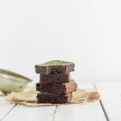 Dark Chocolate Cake With Matcha