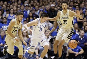 Without a sick Coach K, No. 7 Duke beats Wake Forest 89-71