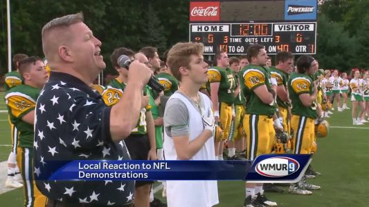 Local residents react to NFL demonstrations during national anthem