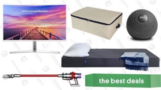 Monday's Best Deals: Casper Essential Mattress, Dyson Cordless Vacuums, Curved Monitor, and More