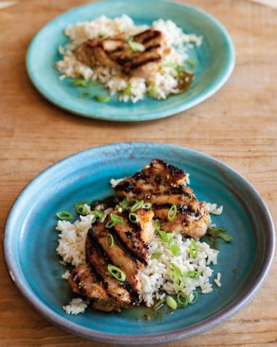 Grilled Lemongrass Chicken with Ginger Rice