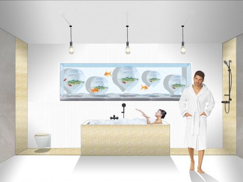 A new hotel design featuring breeding tanks full of fish and vegetable-filled vertical farms - take a look