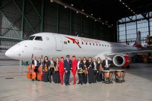 Vienna Johann Strauss Orchestra Takes Over The Patronage Of An Austrian Airlines Embraer jet