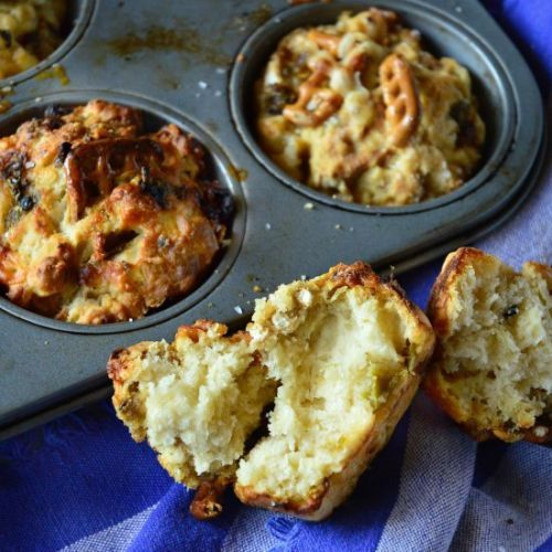 Green Chile Beer Bread Muffins