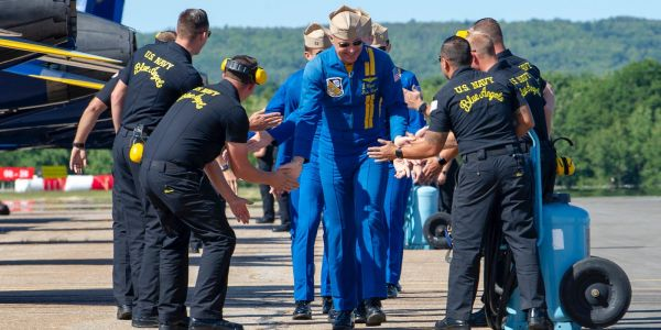 The Blue Angels boss explains how the high-flying demo team plans to change jets