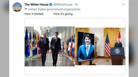 How do you do, fellow kids? Biden White House leaves followers baffled after tweeting out-of-touch meme with Canadian PM