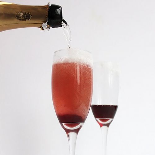 Cherry and Champagne Cocktail