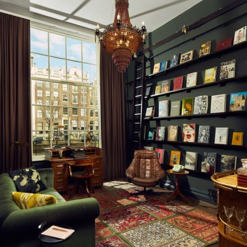 The Awe-Inspiring Book Collector's Suite at Amsterdam Pulitzer