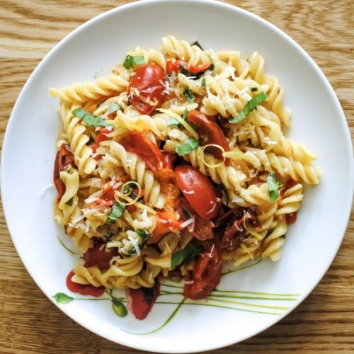 One-Pan Pasta Arrabiata for One