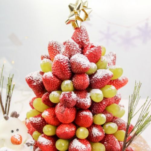 DIY Christmas Tree Fruit Stand