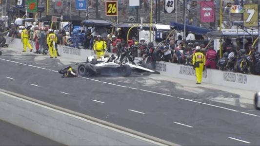 Indianapolis 500 Crew Member Taken to Local Hospital After Being Hit on Pit Road