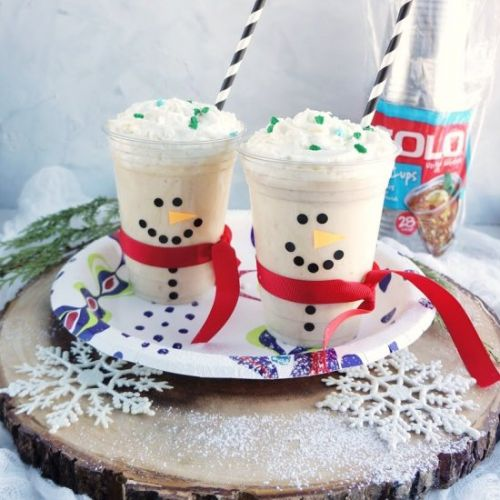 Healthy Snowman Smoothies