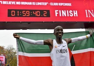 Eliud Kipchoge breaks 2-hour marathon barrier
