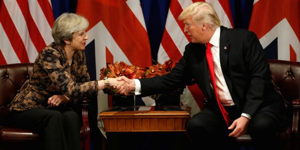 Trump told May that the US is with the UK 'all the way' over the Sergei Skripal poisoning