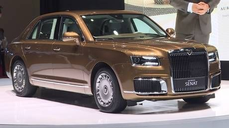 Putin's limo maker Aurus makes European debut at Geneva Motor Show