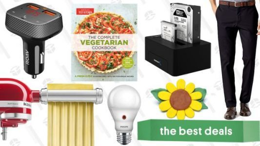 Monday's Best Deals: Discounted Levi's, KitchenAid Pasta Rollers, Kindle Cookbooks and More