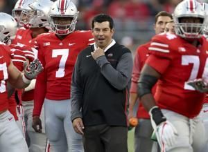 The Latest: Ohio State opens practice without Meyer