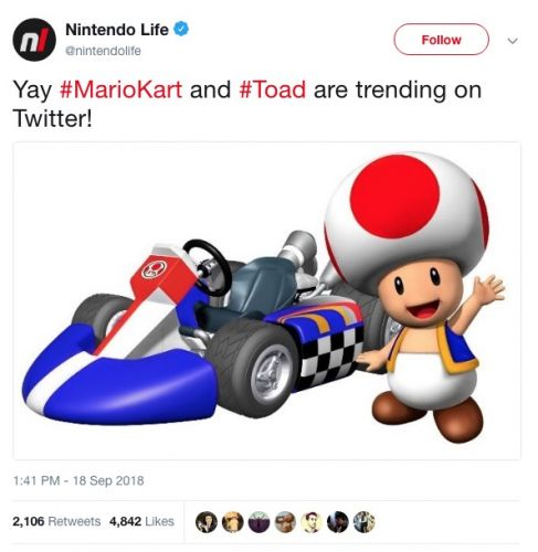 MarioKart trends on Twitter as Stormy compares Toad to Trump's privates