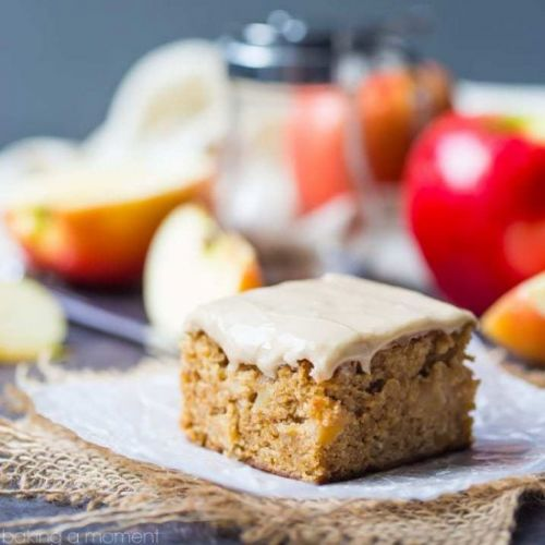 Apple Blondies with Maple Icing
