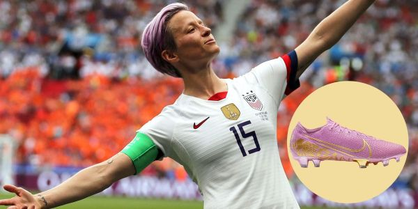 Nike made one-of-a-kind cleats for Megan Rapinoe inspired by her hair and trophies to honor her Ballon d'Or win