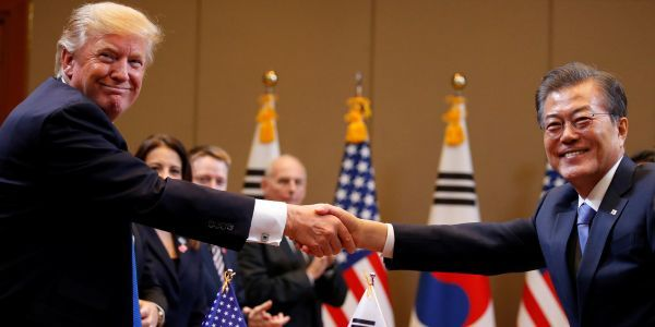 Trump reportedly asked South Korea's president to publicly give him kudos for the talks with North Korea
