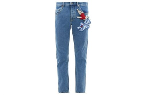 Gucci Drops Jeans Decorated With Padded-Appliqué Brooches