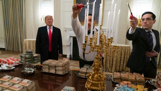 Donald Trump serves fast food by candlelight to Clemson during White House visit