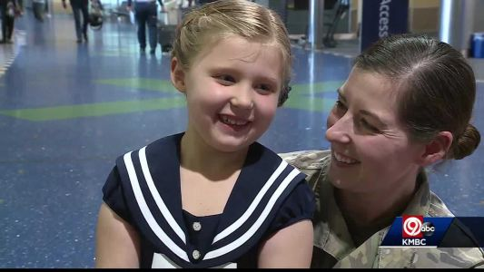 Lost and Found: 6-year-old girl reunited with lost military daddy doll that went missing at KCI