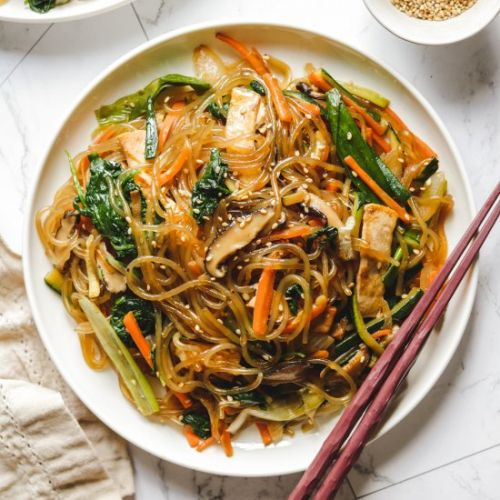 Easy vegan japchae